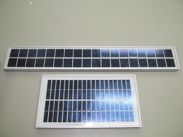 Tiny solar panels!